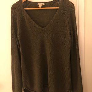 Olive V Neck Sweater